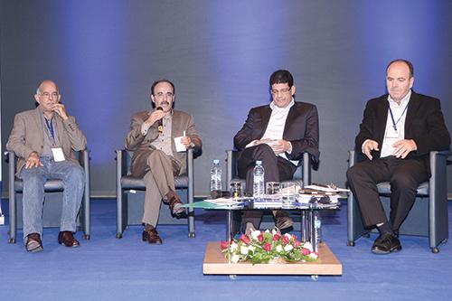 Les dirigeants du PAM: Mohamed Cheikh Biadillah, Ilyass El Omary, Mustapha Bakkoury et Hakim Benchemass