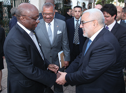 Abdelilah Benkirane, lors du lancement du rapport diagnostique de croissance.