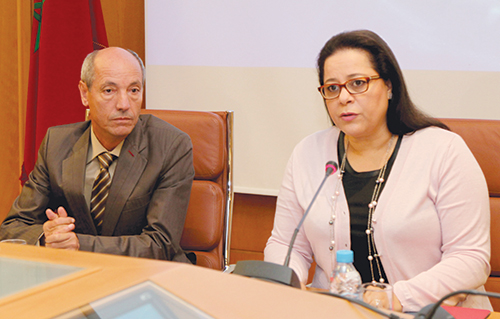 Le ministre de l'Emploi et des Affaires sociales, Abdeslam Seddiki et Miriem Bensaleh Chaqroun, présidente de la CGEM.