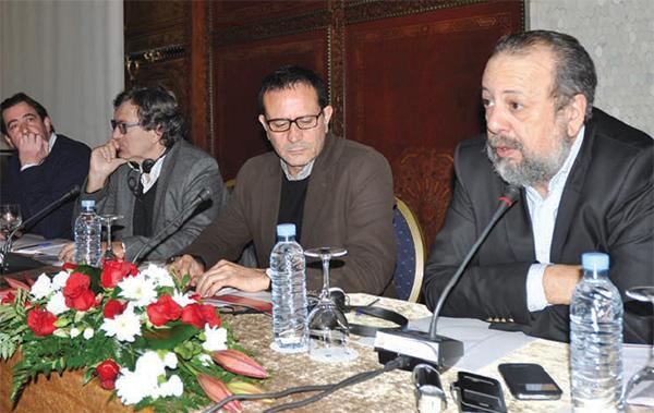 Sarim Fassi Fihri, directeur du CCM en pleine conférence.