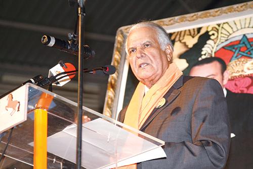 Mohamed Abied lors de son allocution devant le congrès. Casablanca le 27 mars 2015.