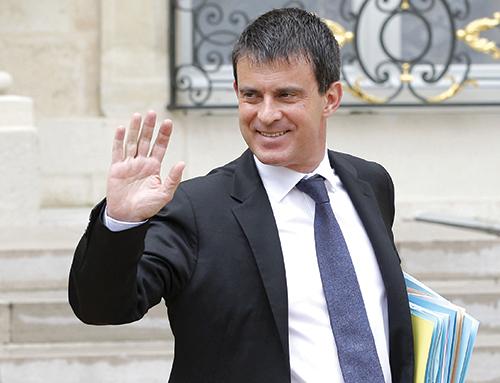 LE PREMIER MINISTRE FRANÇAIS , MANUEL VALLS, AU MAROC