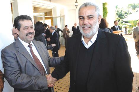 Hamid Chabat et Abdelilah Benkirane. - © DR