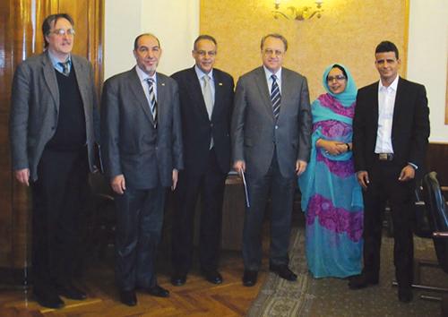 La délégation du Polisario reçue par le responsable russe Mikhaïl Bogdanov - © DR