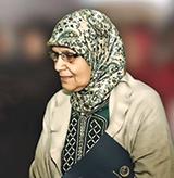 Khadija El Malki, veuve du guide du mouvement, Abdessalam Yassine.