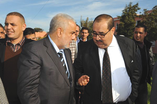 Abdelilah Benkirane et Driss Lachgar. Appel à l'intervention du Souverain (CREDIT PHOTO: DR)