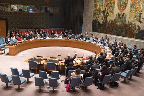 La résolution 2218, datée du 28 avril 2015, a été votée à l'unanimité des 15 membres de l'ONU. - Ph : DR