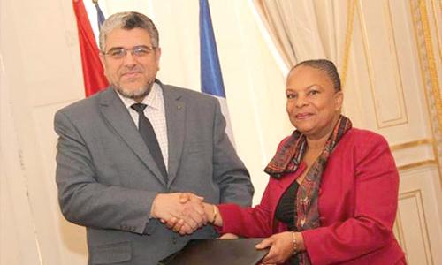 Mustapha Ramid et Christiane Taubira, ministres de la Justice du Maroc et de la France.