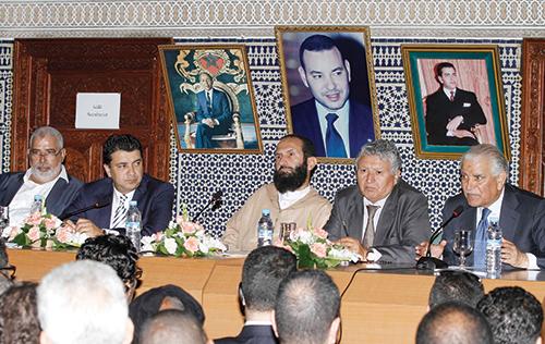 Session du conseil national du MDS à laquelle ont pris part des figures islamistes. Rabat le 23 mai 2015.