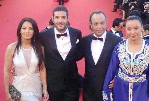 Nabil Ayouch et des acteurs du film sur le tapis rouge de la Croisette.