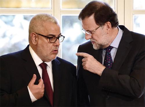 Abdelilah Benkirane et Mariano Rajoy. Madrid, le 5 juin 2015.