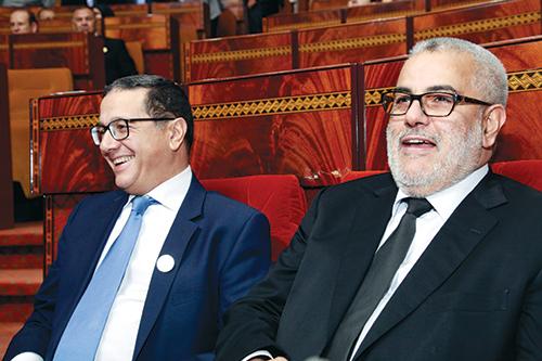 Abdelilah Benkirane, chef du gouvernement, et Mohamed Boussaïd, ministre de l'Économie et des Finances. - Ph : DR