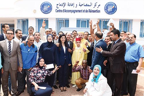 Le Roi Mohammed VI au lancement du programme d'appui aux micro-projets et à l'auto-emploi des ex-détenus. Vendredi 3 juillet 2015, Casablanca.