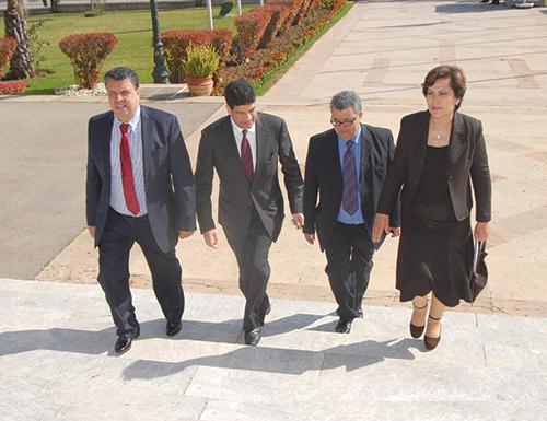 Des dirigeants du PAM, A. Ouahbi, M. Bakkouri, A. Touhami et Mme Hazib.