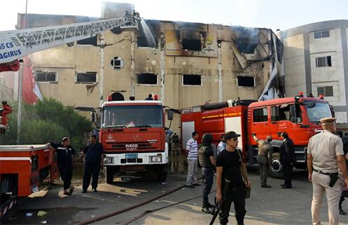 egypte-incendie