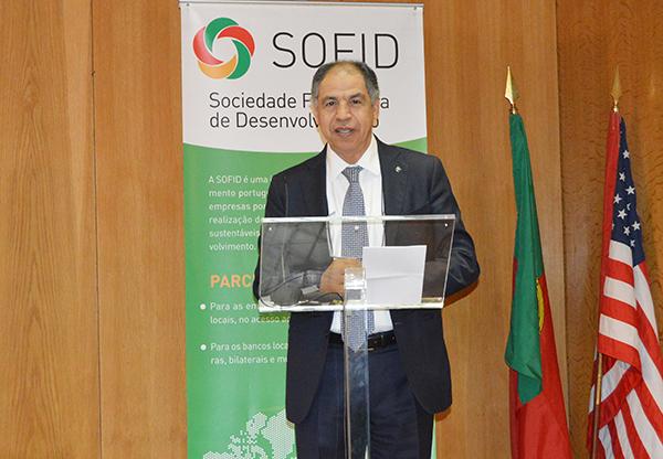 Driss Guerraoui, intervenant, lundi à Lisbonne, lors d'une conférence sur les partenariats luso-arabes pour le développement - © MAP