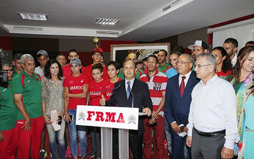 Mondiaux d'athlétisme (15e édition): la FRMA honore les sportifs marocains