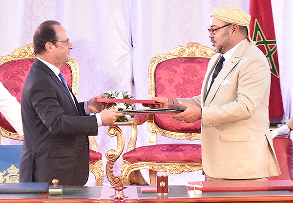 SM le Roi Mohammed VI et François Hollande lancent