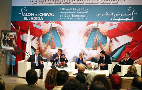 Conférence de presse du ministre de l'Agriculture et de la Pêche Maritime, Aziz Akhannouch sur la 8ème édition du salon du cheval - © photo : MAP