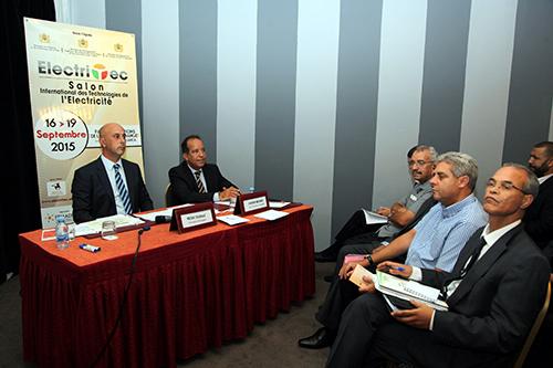 Conférence de presse destinée à la présentation sur le 1er Salon international des technologies de l'électricité