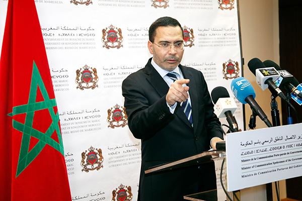 Mustapha El klhalfi ministre de la communication, porte parole du gouvernement