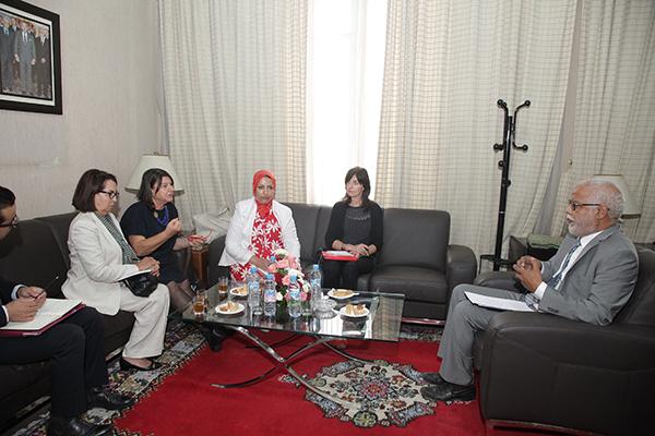 M. Yatim s'entretient à Rabat avec la rapporteuse spéciale de l'ONU sur le droit à l'alimentation Mme Hilal Elver