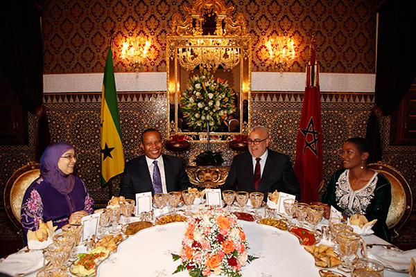 LE premier ministre de Sao Tomé et Principe, présidé par le Chef du gouvernement