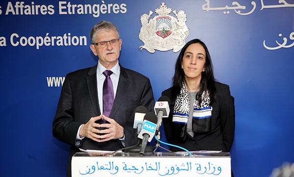 Conférence de presse conjointe de Bouaida avec Mogens Lykketoft