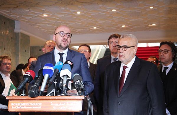 Abdelilah Benkirane et Charles Michel