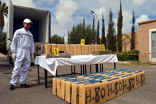 Guergarate   saisie de pr  s de six tonnes de chira