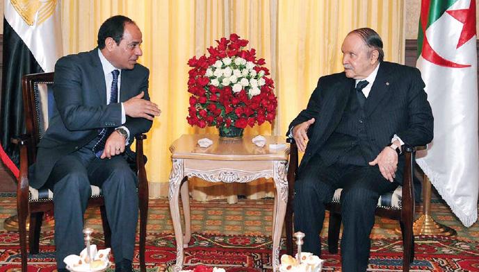 Abdel Fattah Al-Sissi et Abdelaziz Bouteflika