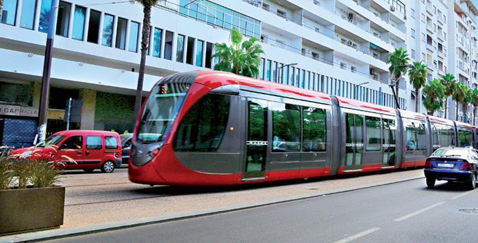 Casablanca   Arr  t provisoire du Tramway entre Derb Ghallef et Ain Diab