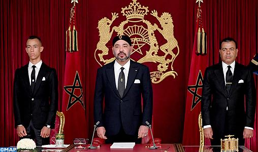 Sa Majest   le Roi adresse un Discours    la Nation    l occasion de la F  te du Tr  ne