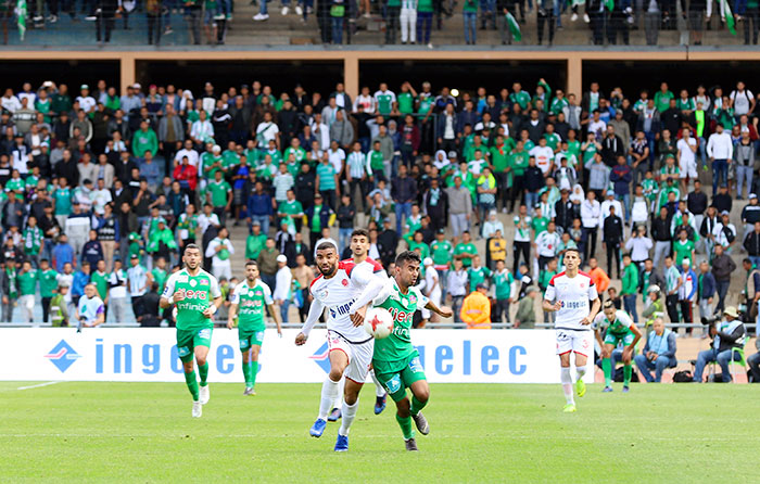 Botola Maroc T  l  com  Le Raja et le Wydad se quittent bons amis  2-2