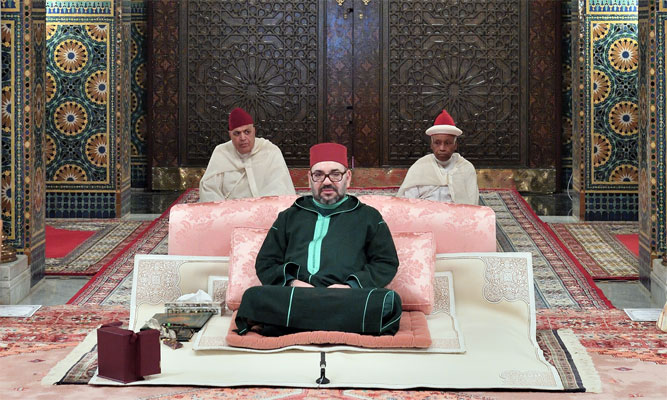 Casablanca  SM le Roi  Amir Al Mouminine  pr  side la 3  me causerie religieuse du mois de Ramadan