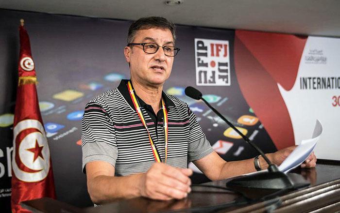 Younes Moujahid   lu    la t  te de la F  d  ration internationale des journalistes