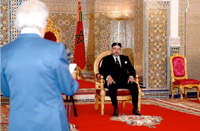 Sa Majest   le Roi re  oit Wali Bank Al-Maghrib