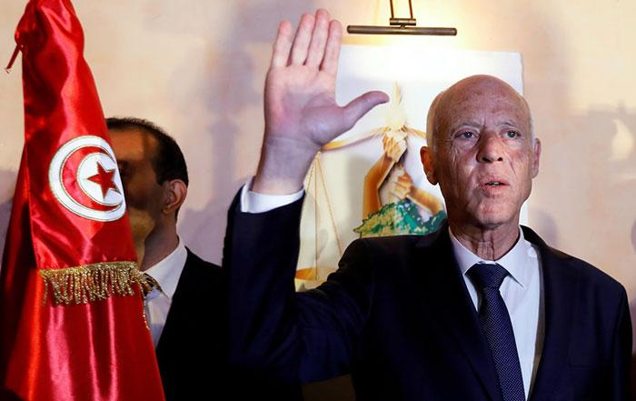 Tunisie  Kais Saed  vainqueur de la Pr  sidentielle avec pr  s de 77   des voix