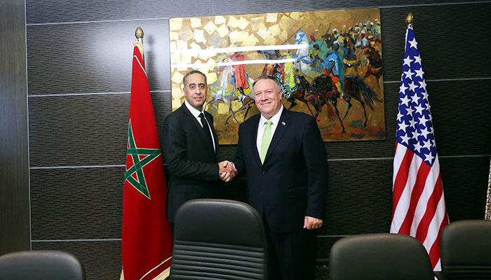 M  Abdellatif Hammouchi s entretient avec le secr  taire d Etat Am  ricain