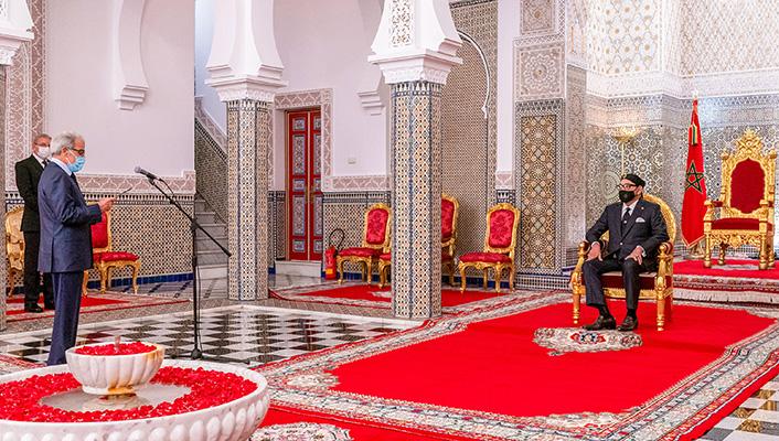 Sa Majest   le Roi Mohammed VI re  oit Wali Bank Al-Maghrib