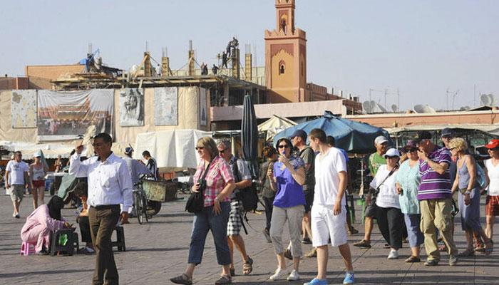 MARRAKECH RE  OIT SES PREMIERS TOURISTES   TRANGERS