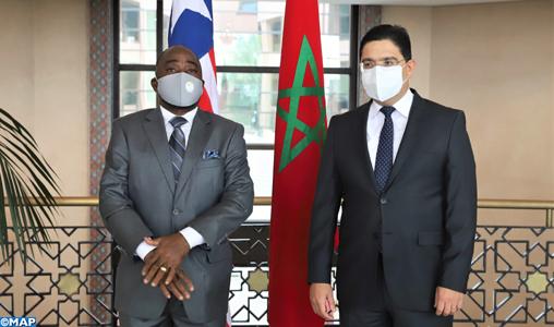 Le Lib  ria r  affirme sa solidarit   avec le Royaume du Maroc et son soutien    sa Cause Nationale