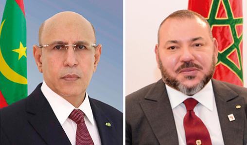 Entretien t  l  phonique entre le roi Mohammed VI et le pr  sident mauritanien