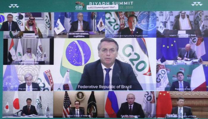 Tenue du G20 virtuel sous la pr  sidence de l Arabie Saoudite
