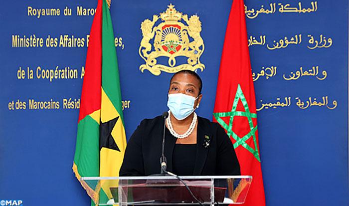 El Guergarat  La R  publique de Sao Tom  -et-Principe exprime son soutien aux actions pacifiques entreprises par le Maroc