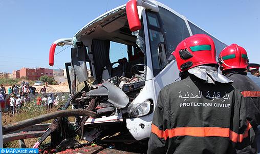 12 morts et 36 bless  s dans un accident d   autocar pr  s d   Agadir