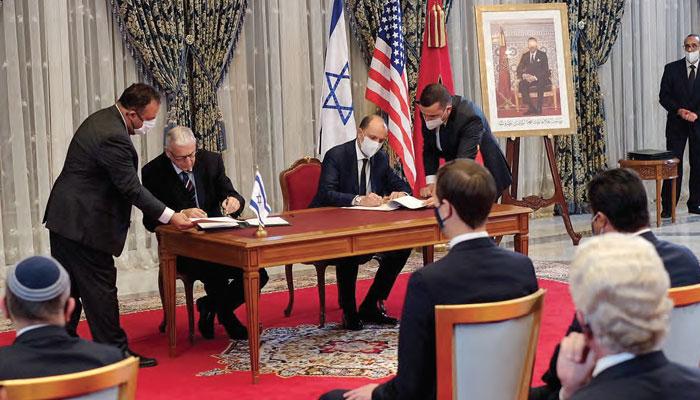 Le Maroc et Isra  l abattent leurs cartes