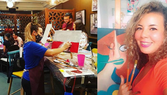 Paint   Drink  un carrefour des passionn  s d art