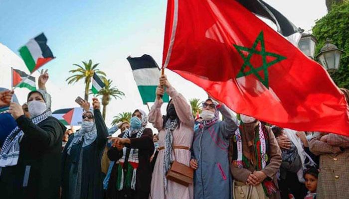 Proche-Orient  Le Maroc corps et   me avec la Palestine
