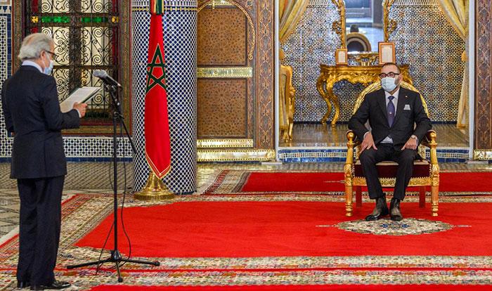 SM le Roi re  oit Wali Bank Al-Maghrib